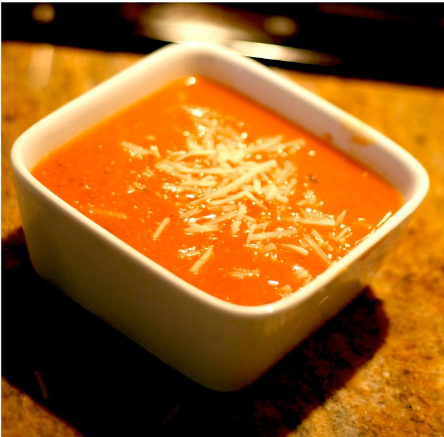 Tomato Basil Soup with Asiago
